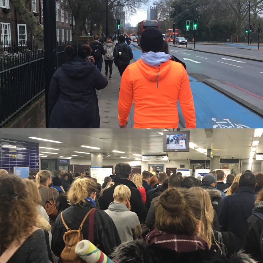 Active Train run commute vs. tube commute