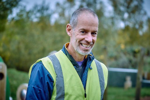 Paul Sinton-Hewitt volunteering at parkrun