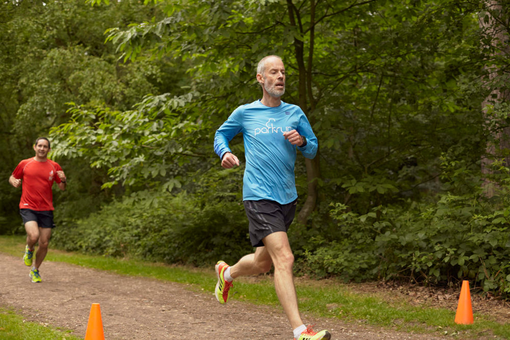 Paul Sinton-Hewitt running at parkrun